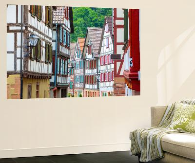Traditional Half Timbered Buildings in Schiltach's Picturesque Medieval Altstad, Baden-Wurttemberg-Doug Pearson-Wall Mural