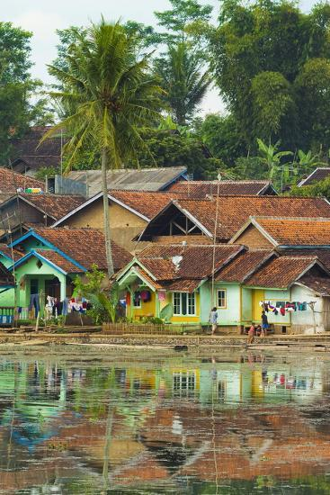 Traditional Homes and Situ Cangkuang Lake at This Village known for its Hindu Temple- Rob-Photographic Print
