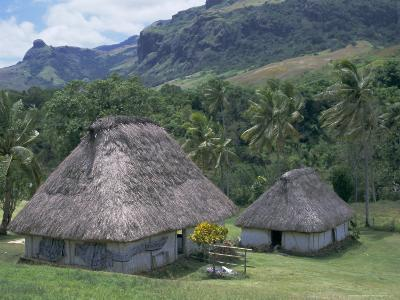 Traditional Houses, Bures, in the Last Old-Style Village, Fiji, South Pacific Islands-Anthony Waltham-Photographic Print