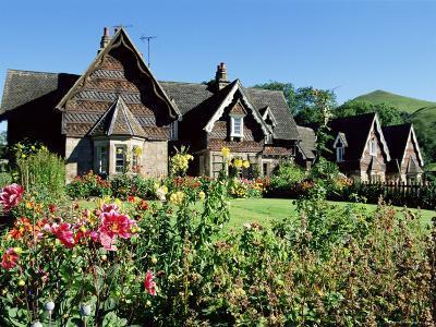 Traditional Houses, Ilam, Derbyshire, Peak District National Park, England, United Kingdom-Neale Clarke-Photographic Print