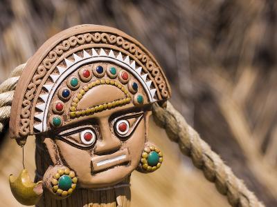 Traditional Inca Decorative Pottery, Lake Titicaca, Puno, Peru, South America-Ian Egner-Photographic Print