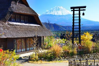 Traditional Japanese Huts near Mt. Fuji, Japan.-SeanPavonePhoto-Photographic Print