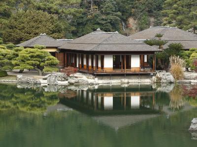 Traditional Japanese Tea House at Ritsurin Park-Seong Joon Cho-Photographic Print