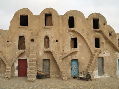 Traditional Ksar, Berber Village, Fortified Granary, Medenine, Tunisia-Gary Cook-Photographic Print