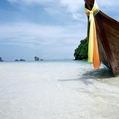Traditional long tail boat, Thailand--Photographic Print