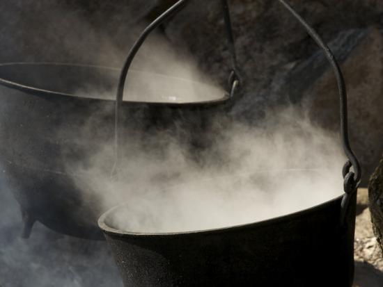 Traditional Maple Sugar Making-Tim Laman-Photographic Print