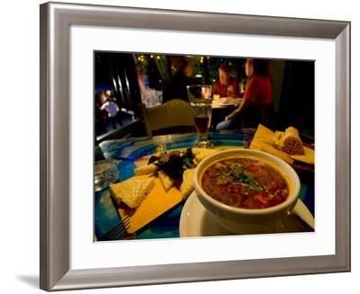 Traditional Meal of Sheeps Cheese, Stewed Chicken with Bread, Tbilisi, Georgia-Stephane Victor-Framed Photographic Print