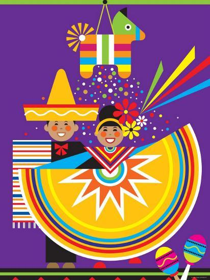 Traditional Mexican Cultural Celebration with Pinata--Photographic Print