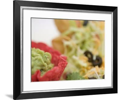 Traditional Mexican Dish with Guacamole on a Taco Salad--Framed Photographic Print