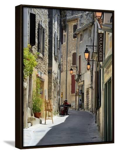 Traditional Old Stone Houses, Les Plus Beaux Villages De France, Menerbes, Provence, France, Europe-Peter Richardson-Framed Canvas Print