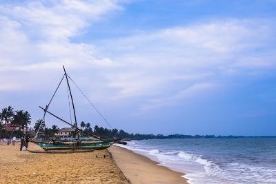 Traditional Outrigger Fishing Boat (Oruva), Negombo Beach, Negombo, Sri Lanka, Asia-Matthew Williams-Ellis-Photographic Print