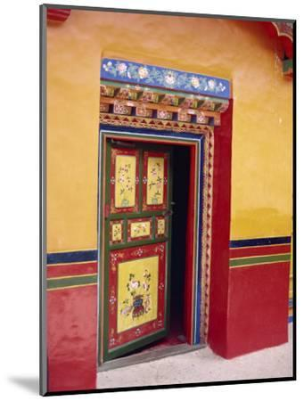Traditional Painted Door in the Summer Palace of the Dalai Lama, Norbulingka, Lhasa, Tibet, China-Gina Corrigan-Mounted Photographic Print