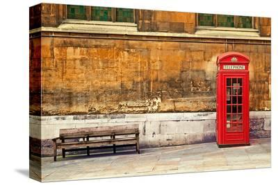 Traditional Phone Box London--Stretched Canvas Print