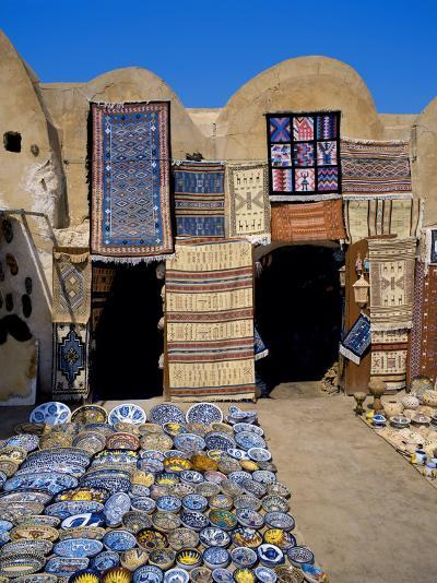 Traditional Pottery and Rug Shop, Tunisia, North Africa, Africa-Papadopoulos Sakis-Photographic Print