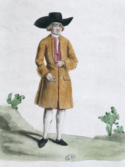 Traditional Quaker Dress, 1767--Giclee Print