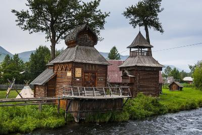 Traditional Rebuilt Houses in the Ewenen Museum in Esso, Kamchatka, Russia, Eurasia-Michael Runkel-Photographic Print