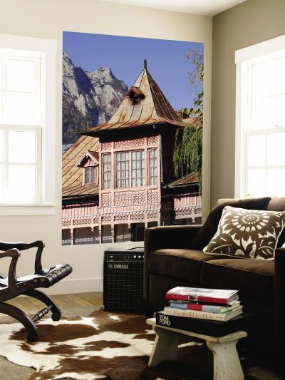 Traditional Romanian House in Busteni at the Foot of the Bucegi Mountains-Jonathan Smith-Wall Mural