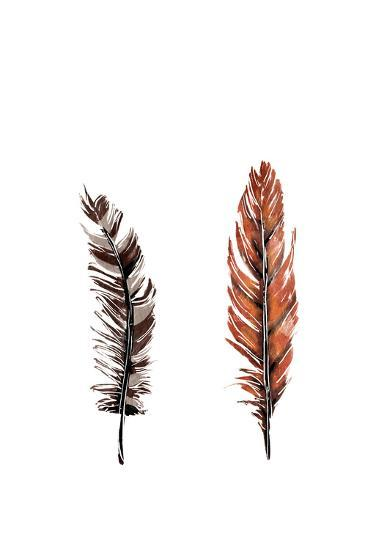 Traditional Sketched Feathers-OnRei-Art Print