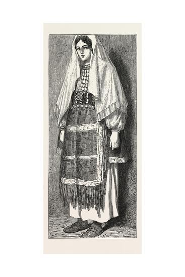Traditional Slavonic Dress--Giclee Print