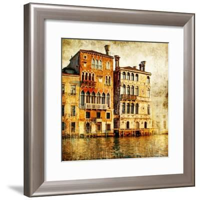 Traditional Venice - Artwork In Painting Style-Maugli-l-Framed Premium Giclee Print