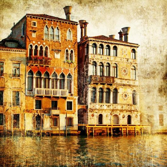 Traditional Venice - Artwork In Painting Style-Maugli-l-Premium Giclee Print