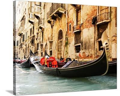 Traditional Venice gondola--Stretched Canvas Print