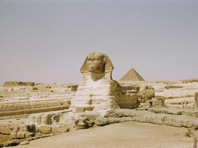 Traditional View of the Great Sphinx at Giza-Joseph Baylor Roberts-Photographic Print