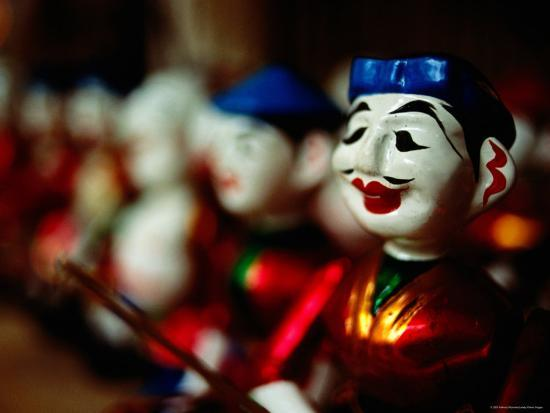 Traditional Water Puppets, Hanoi, Vietnam-Anthony Plummer-Photographic Print