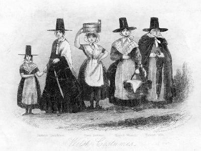 Traditional Welsh Costume, 19th Century- Newman & Co-Giclee Print