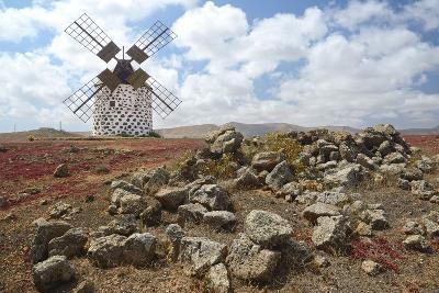 Traditional Windmill of Villaverde, Fuerteventura, Blue Heaven-Axel Ellerhorst-Photographic Print
