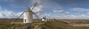 Traditional Windmill on a Hill, Consuegra, Toledo, Castilla La Mancha, Toledo Province, Spain
