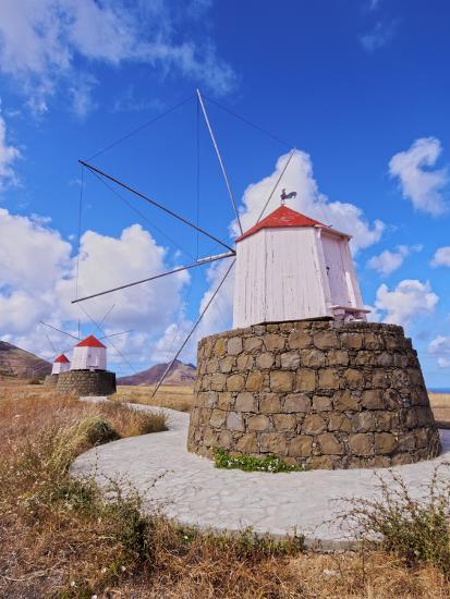 Traditional windmills of Porto Santo Island located on the way from Casinhas to Serra de Fora, Port-Karol Kozlowski-Photographic Print