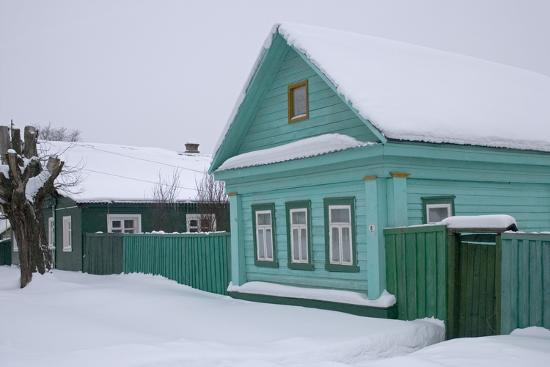 Traditional Wooden House, Pereslavl-Zalessky, Golden Ring, Russia--Photographic Print