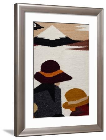 Traditional Wool Rug, Otavalo Handicraft Market, Quito, Ecuador-Cindy Miller Hopkins-Framed Photographic Print
