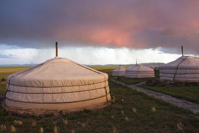 Traditional Yurt Housing in the Gobi-Jonathan Irish-Photographic Print