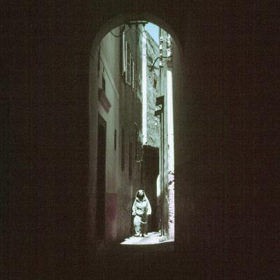 "Traditionally Garbed Arab Woman Walking Through ""Street of the Devil"" in Medina Quarter-Jack Birns-Photographic Print"