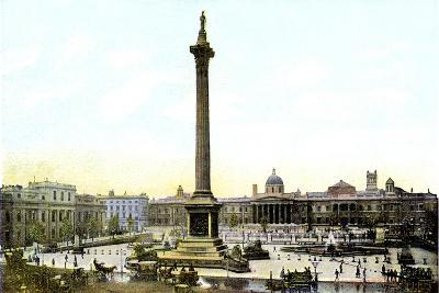 Trafalgar Square and Nelson's Column, London, 20th Century--Giclee Print