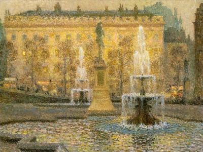 Trafalgar Square, London, 1908-Henri Eugene Augustin Le Sidaner-Giclee Print