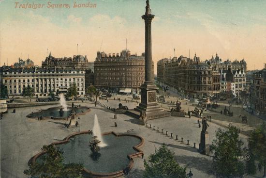 'Trafalgar Square, London', c1900-Unknown-Giclee Print