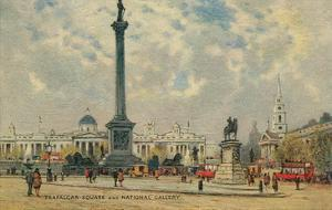 Trafalgar Square, National Gallery, London, England