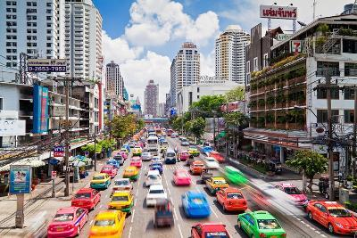 Traffic Congestion in Central Bangkok, Thailand, Southeast Asia, Asia-Gavin Hellier-Photographic Print