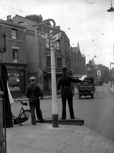 Traffic Cop--Photographic Print