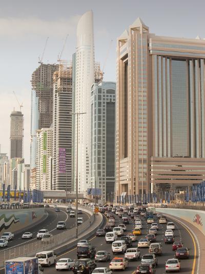 Traffic in Dubai City-Ashley Cooper-Photographic Print