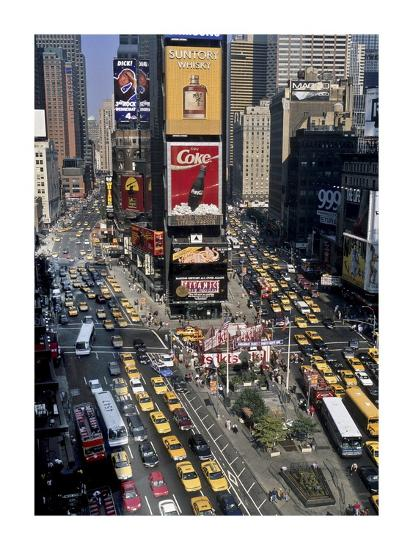 Traffic in Times Square, NYC-Michel Setboun-Giclee Print