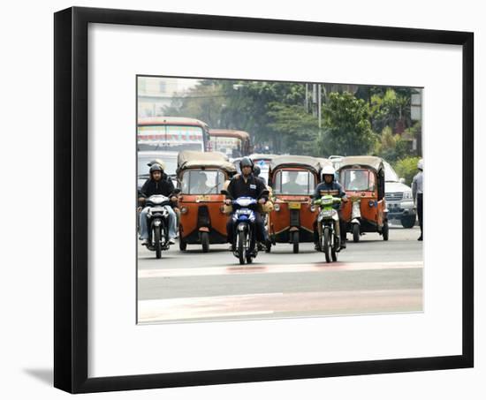 Traffic Including Tuk-Tuk or Bajaj, Jakarta, Java, Indonesia, Southeast Asia-Porteous Rod-Framed Photographic Print