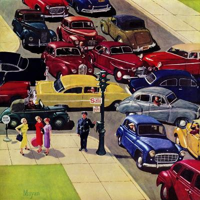 """Traffic Jam"", April 28, 1956-Earl Mayan-Giclee Print"