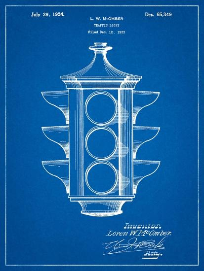 Traffic Light 1923 Patent-Cole Borders-Art Print