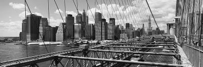 Traffic on a Bridge, Brooklyn Bridge, Manhattan, New York City, New York State, USA--Photographic Print