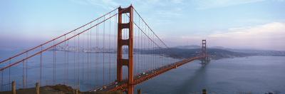 Traffic on a Bridge, Golden Gate Bridge, San Francisco, California, USA--Photographic Print