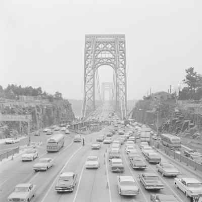 Traffic on George Washington Bridge-Bob Wendlinger-Photographic Print